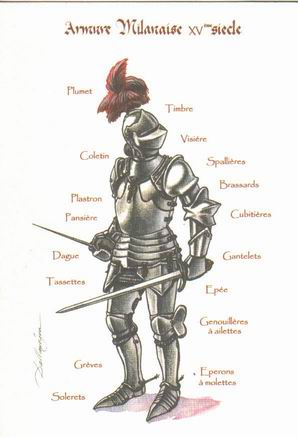 L'armure: evolution à travers le moyen age I1armu10