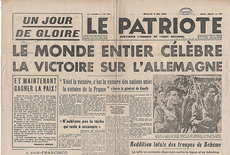 8 mai 1945 Une-pa10