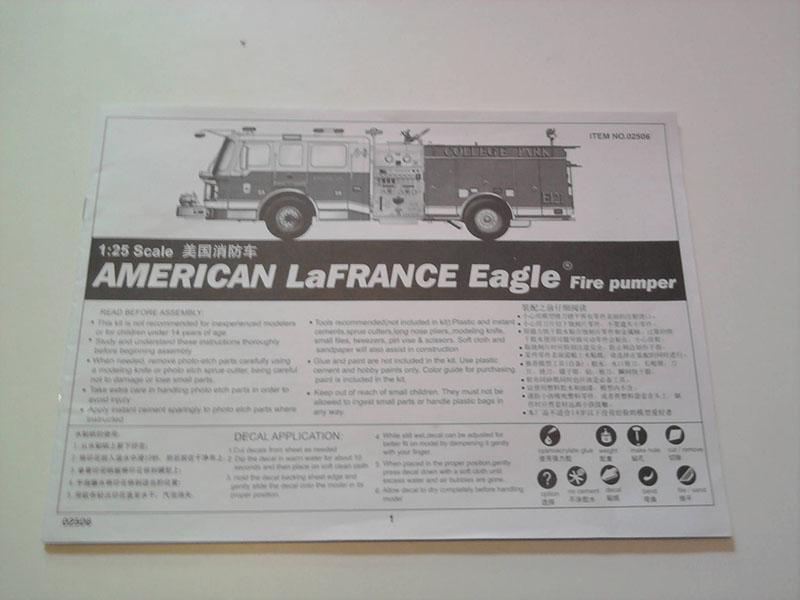 Trumpeter American LaFrance Eagle 1:25 02_10