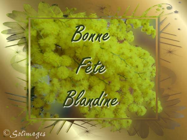 fête  à  souhaiter   - Page 40 Blandi10