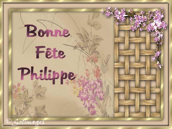 fête  à  souhaiter   - Page 37 Philip10