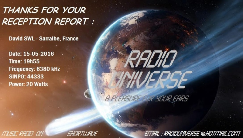 eQSL de Radio Universe 15-05-11