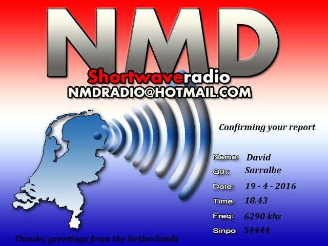 eQSL de NMD Radio 19-04-10