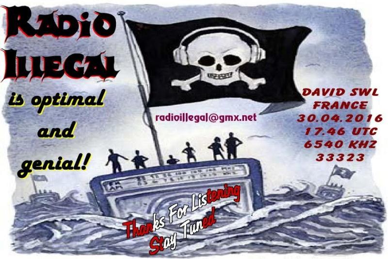 eQSL de Radio Illegal  30-04-11