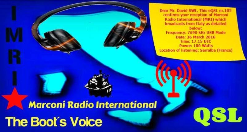 eQSL de Radio MRI ( Radio Marconi Int. ) F19c3310