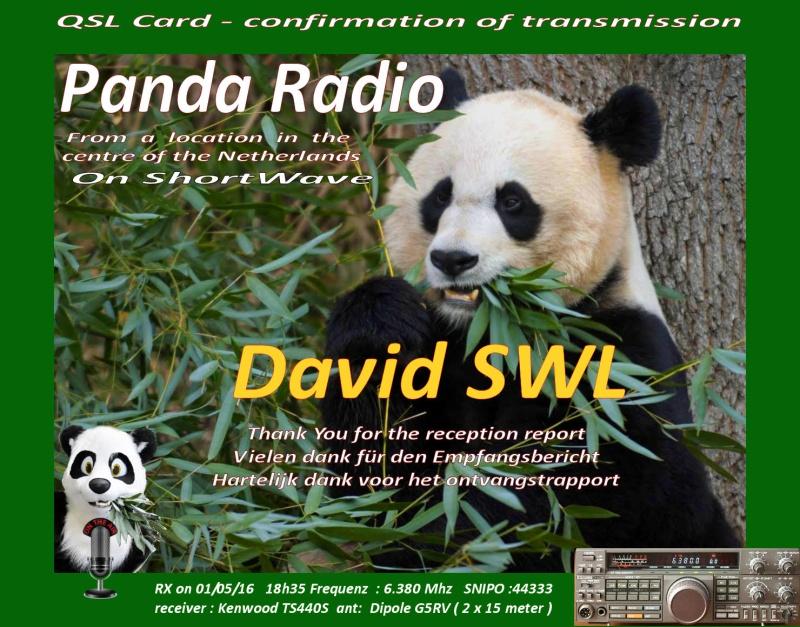 eQSL de PANDA radio Qsl12