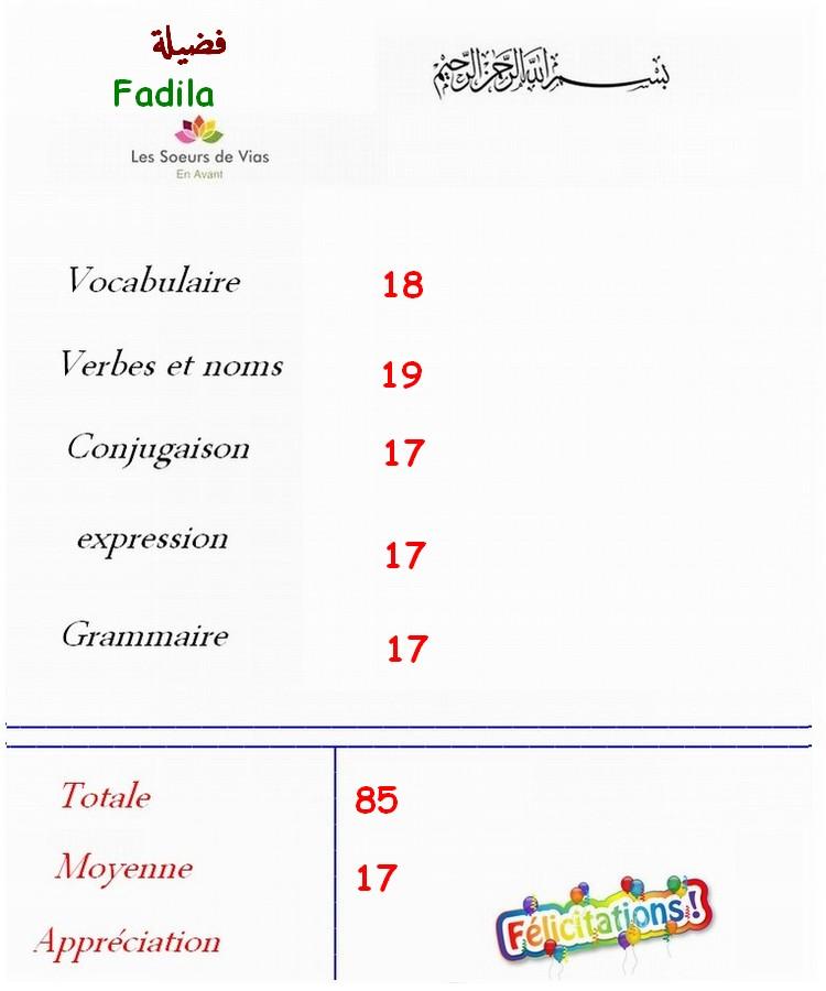 Groupe fracophone 1er année Fadela10