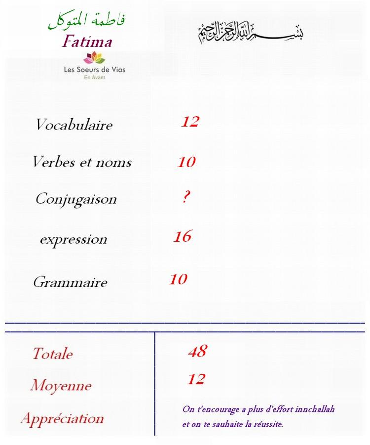 Groupe fracophone 1er année Fatima10