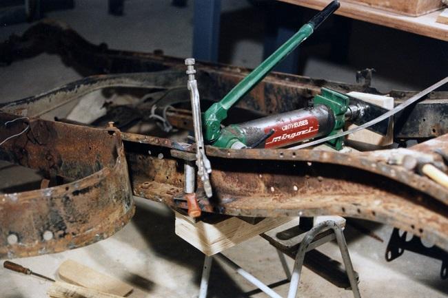 restauration du chassis rosalie 10B 0710