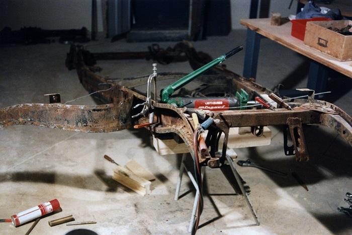 restauration du chassis rosalie 10B 0810