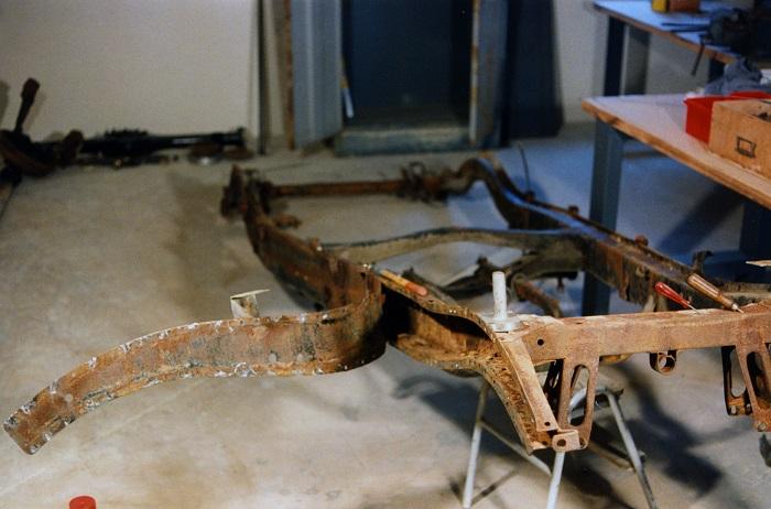 restauration du chassis rosalie 10B 1010
