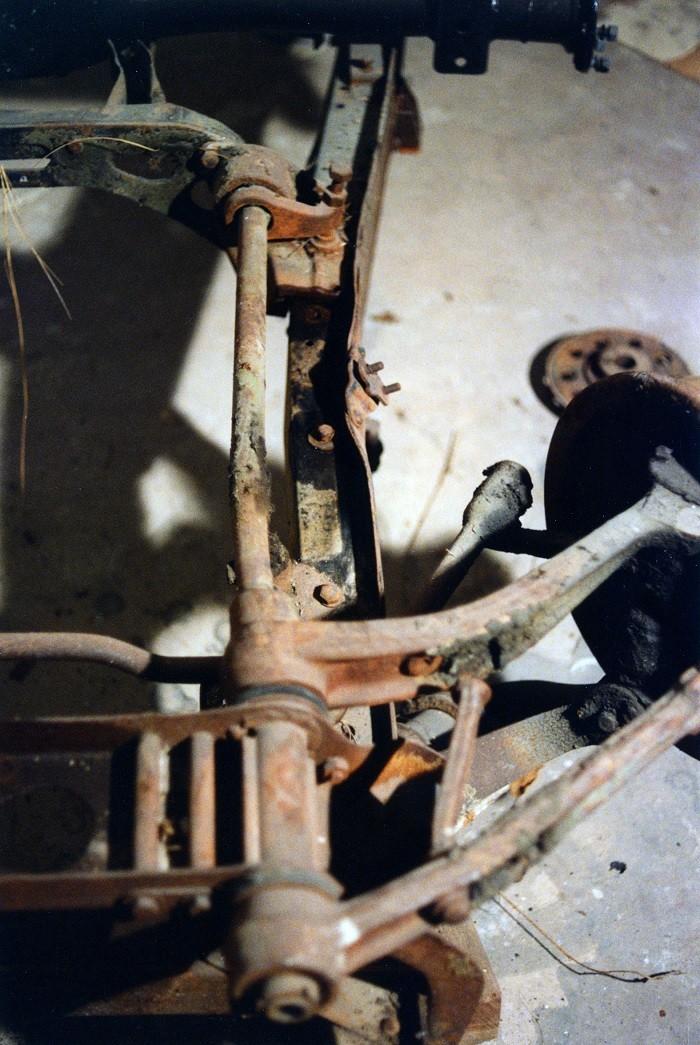 restauration du chassis rosalie 10B 1210