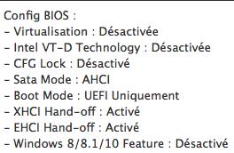 Yosemite HD Problème d'installation Bios11