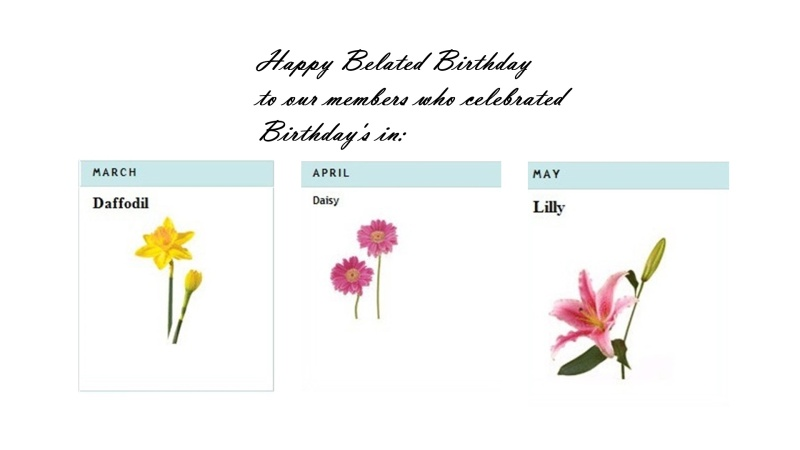 Happy Belated Birthday March, April and May members Belate10