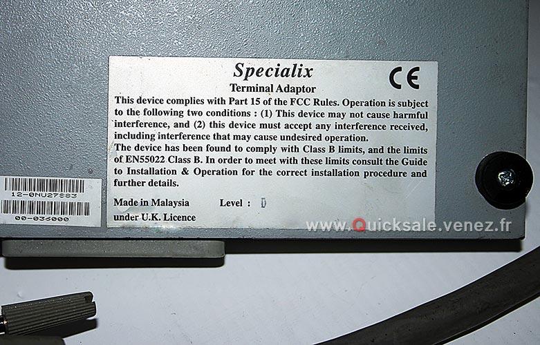 [VDS] Specialix 00-036000 terminal Adaptateur -15€ Specia11