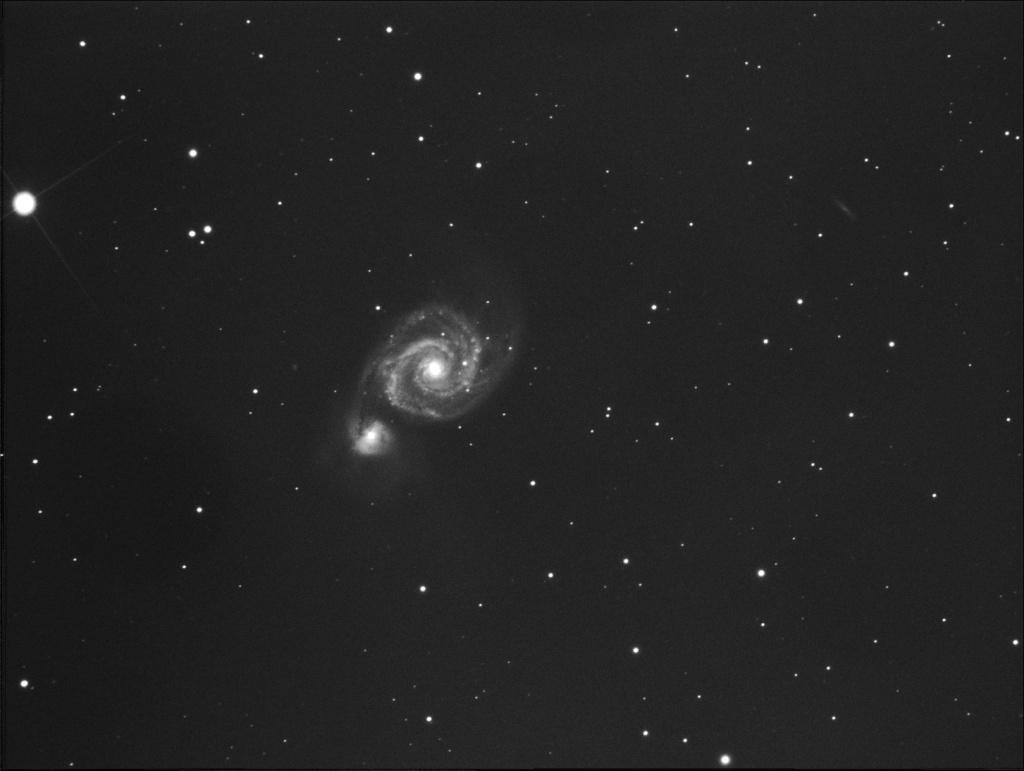 m51 ccd atik  noir et blanc M51_ti11