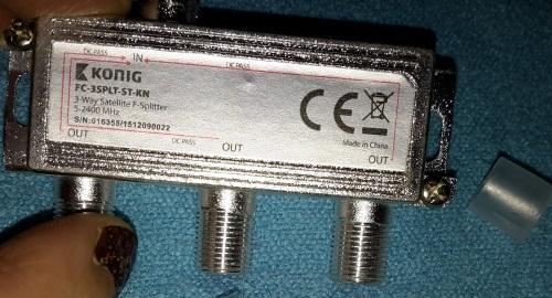 Eurosell - Digitaler 3-fach SAT Antennen Kabel TV BK Verteiler Splitter Cezeic11