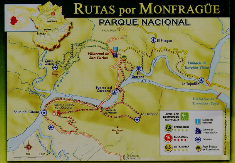 [Espagne] Parc national de Montfragüe Carte_10