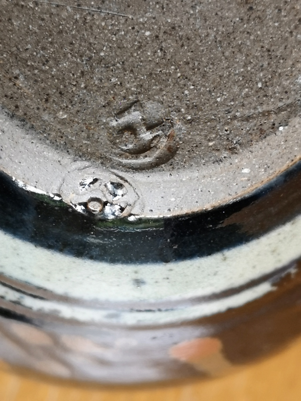 Stoneware studio pottery vase 15965310
