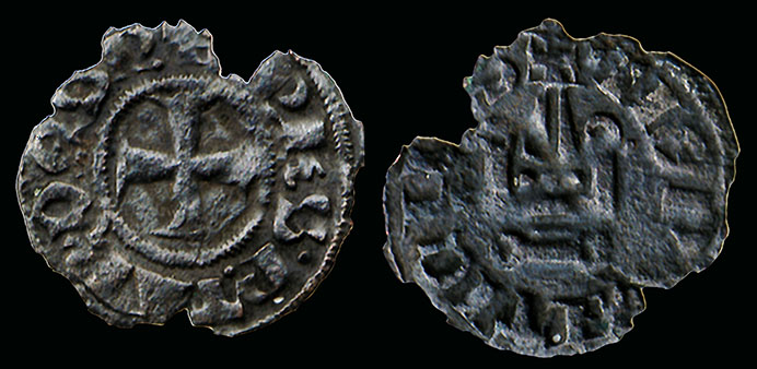 Royale ou féodale ? ... denier des croisades Philippe 1er de Tarente, Épire Monnai11