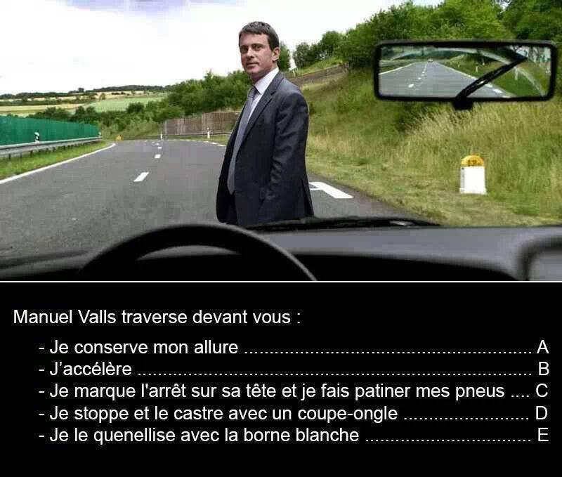 Le premier ministre français traverse devant vous , que faites vous ? 13239410