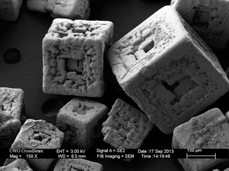 Objets du quotidien passé au microscope . Salt10