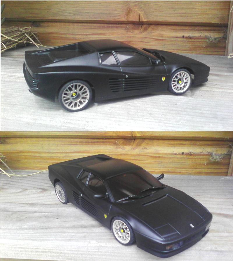 Ferrari testarossa noire mat Jantes10