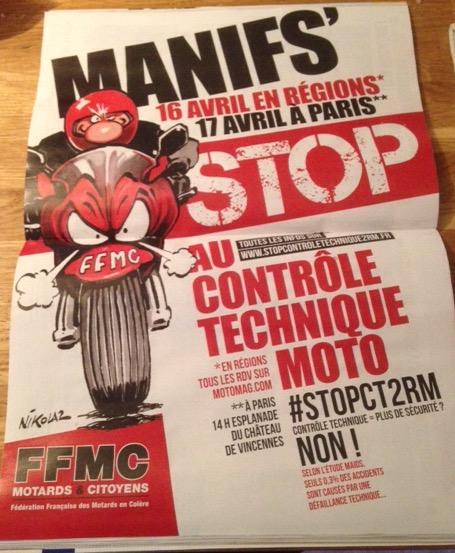 Manifestation anti contrôle technique moto Image12