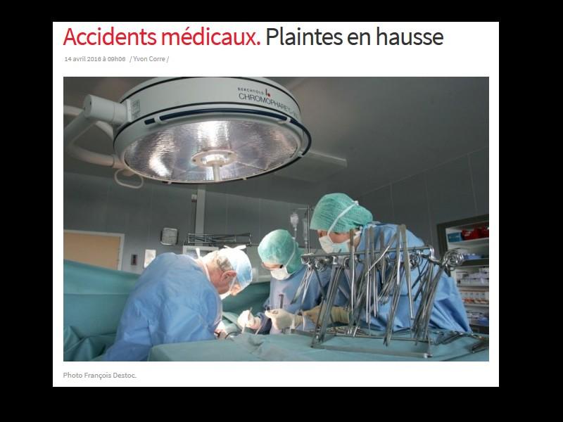 Accidents médicaux. Plaintes en hausse Sans_267