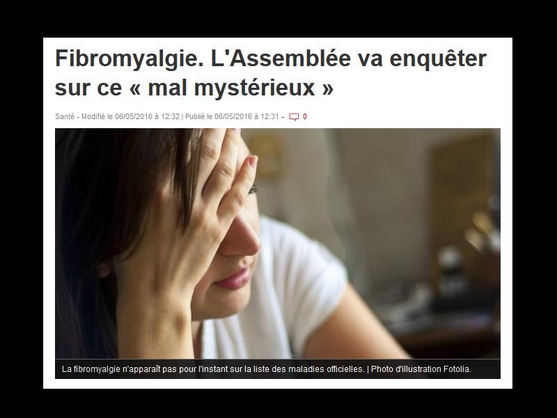 Fibromyalgie. L'Assemblée va enquêter sur ce « mal mystérieux »  Sans_548
