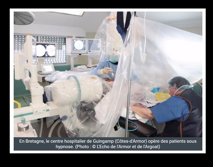 En Bretagne, le centre hospitalier de Guingamp (Côtes-d'Armor) pratique des opérations sous hypnose. Sans_747