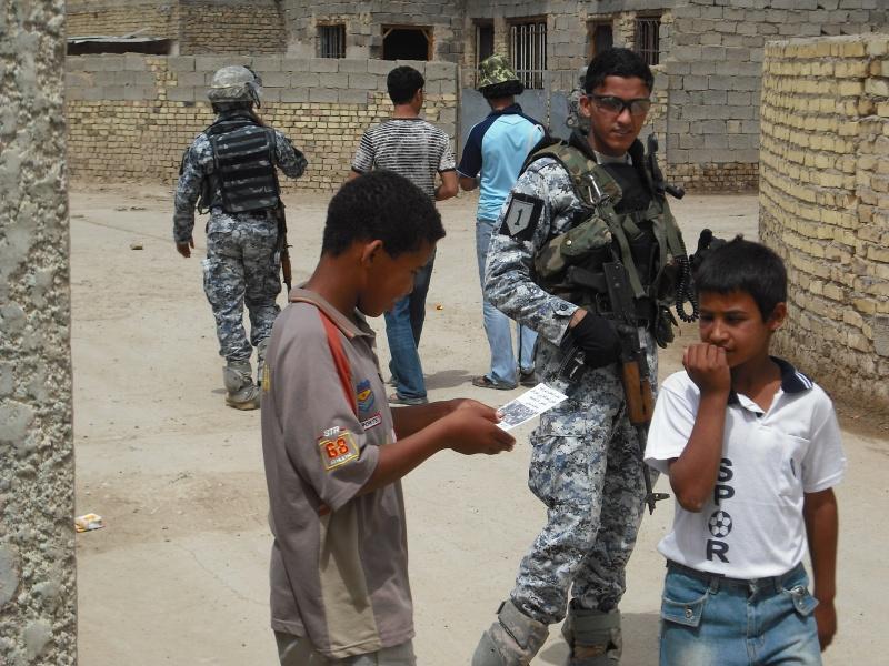 US Made Iraqi Uniform * Blue Digital (ACU Cut) Np0110