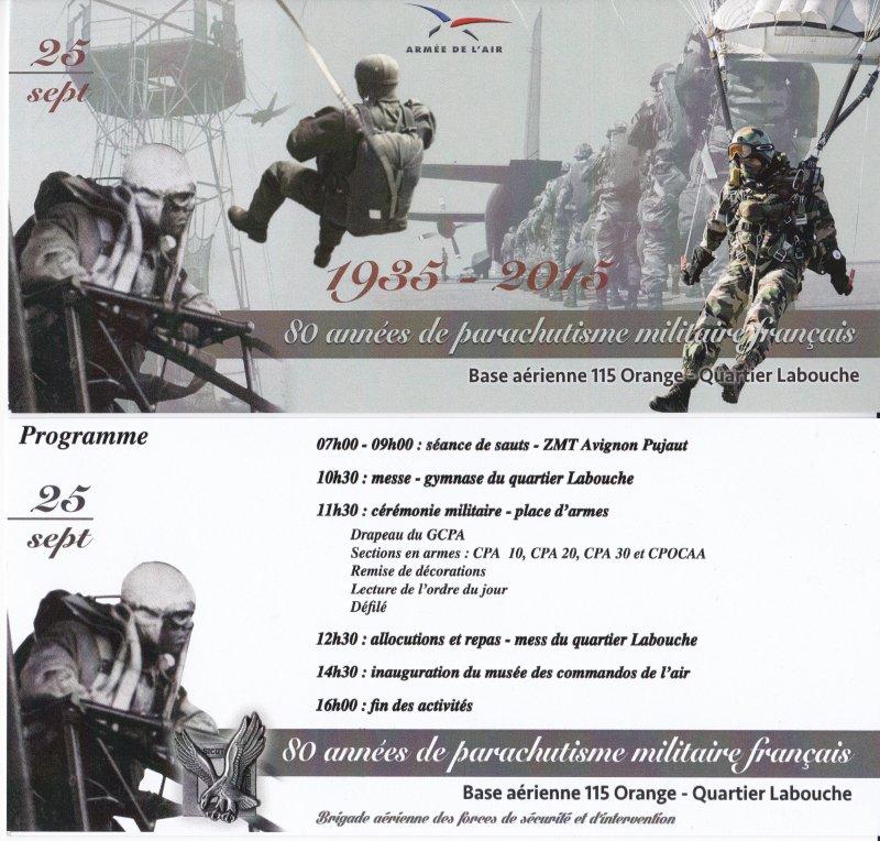 Inauguration du musé des commandos de l'air a Orange pour la Saint Michel Cyrymo10