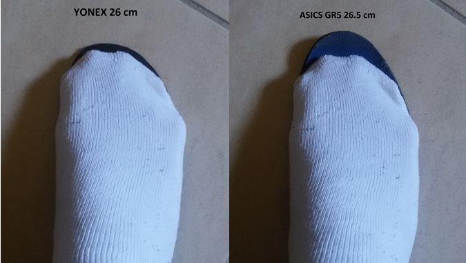 Corretta misura numero scarpe tennis Cattur10