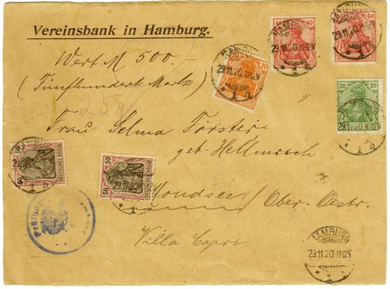Devisenkontrolle im Deutschen Reich nach Ende des 1. Weltkrieges Hambur10