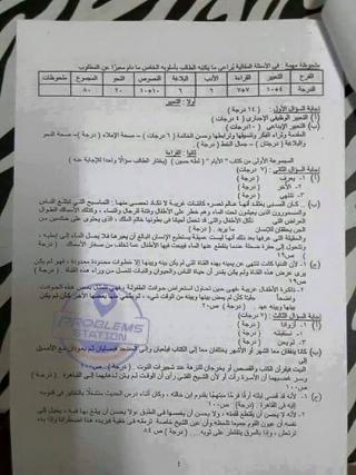الاجابات النموذجية لامتحان اللغة العربية للثانوية العامة 2016 210
