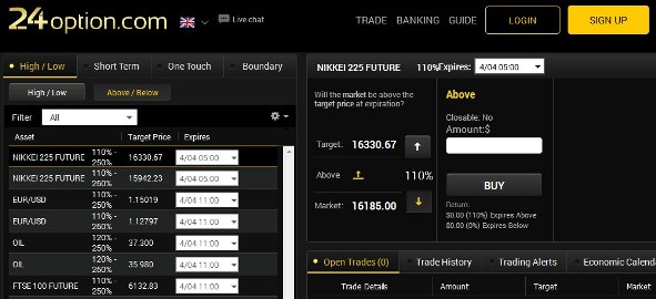 Binary option free alert