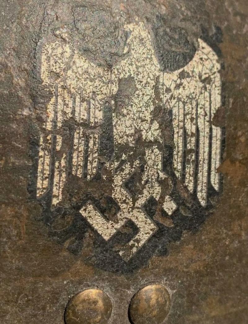 avis Casque Adrian modèle 26 complet insigne allemand Heer ww2 Img_2261