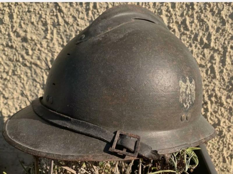 avis Casque Adrian modèle 26 complet insigne allemand Heer ww2 Img_2263