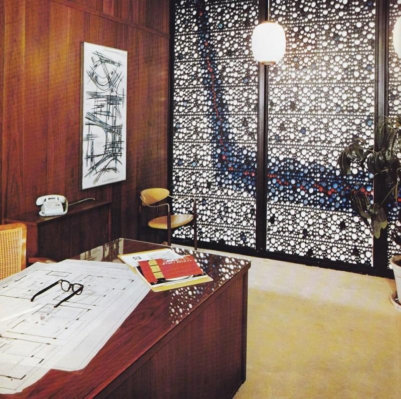 Architectures de banques et bureaux vintages - 1950's & 1960's Office & Bank  12919810