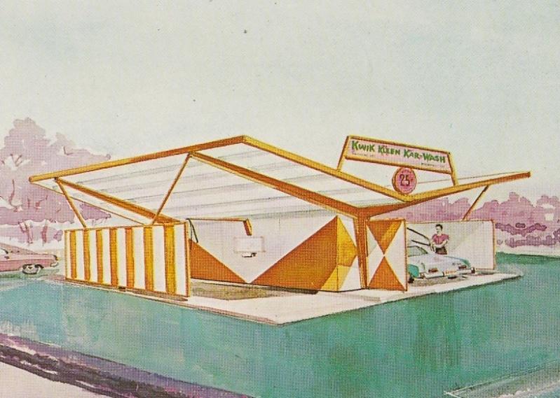 Car Wash 1950s - 1960s - Centre de lavage auto 38230110