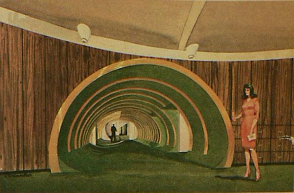 Architectures de banques et bureaux vintages - 1950's & 1960's Office & Bank  Greenl10