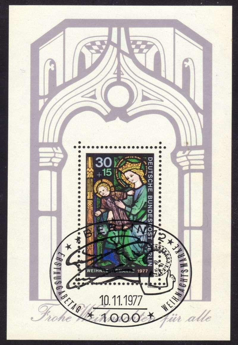 Briefmarkenblocks der Deutschen Bundespost Berlin Bl6b10