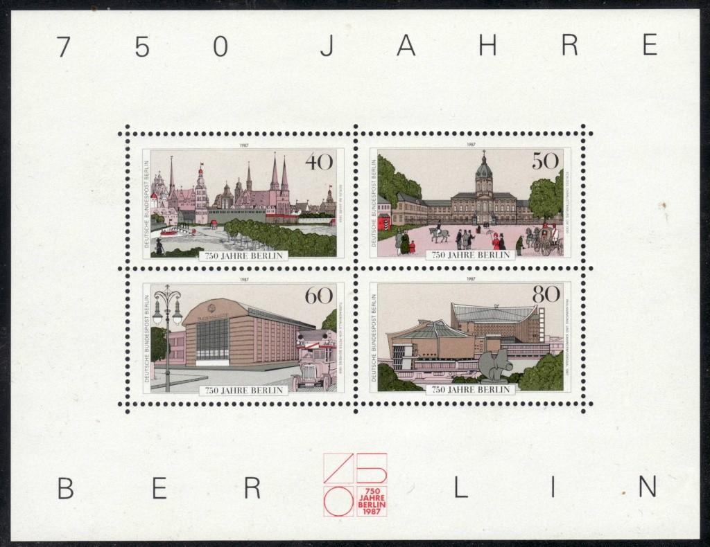 Briefmarkenblocks der Deutschen Bundespost Berlin Bl8a10