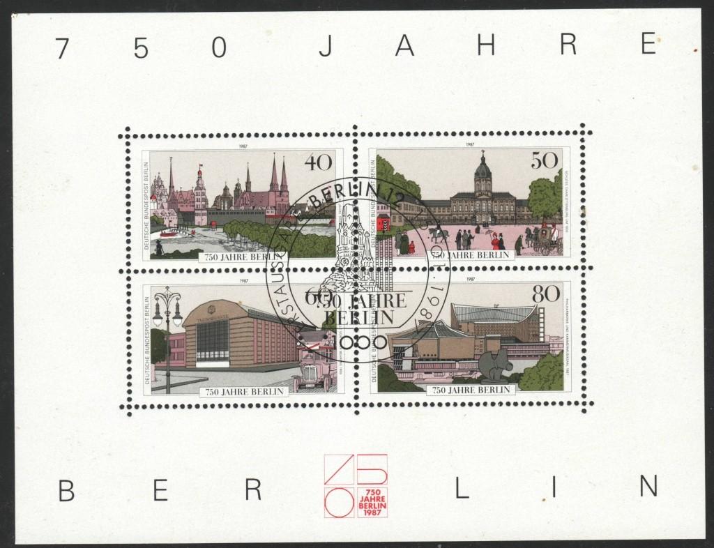Briefmarkenblocks der Deutschen Bundespost Berlin Bl8c10