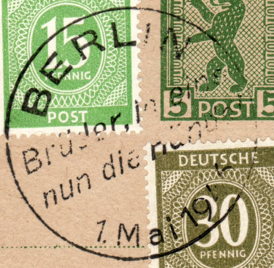 Berlin - Brandenburg (OPD Potsdam) -Sowjetische Besatzungszone- Gsk3b110