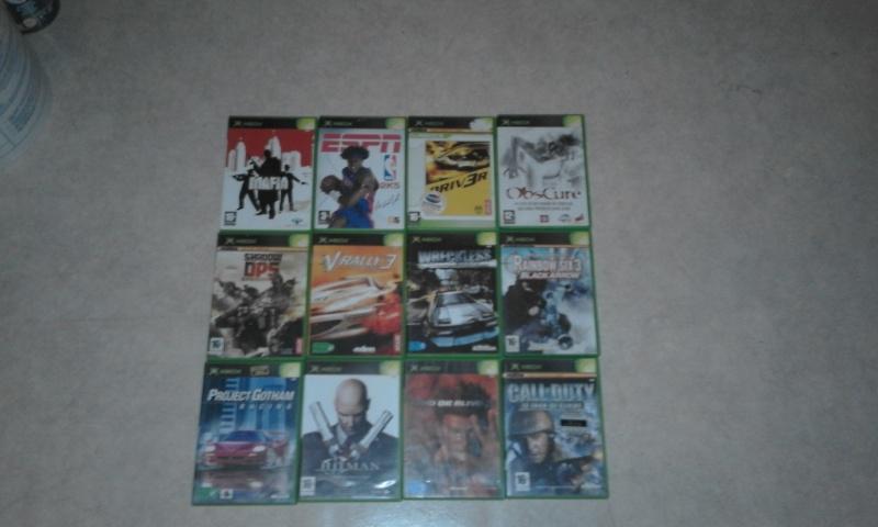 Vends lot de 12 jeux Xbox  20160310