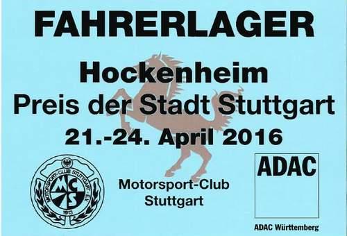 Hockenheim, Preis der Stadt Stuttgart, 21-24 avril 2016 Durchf10