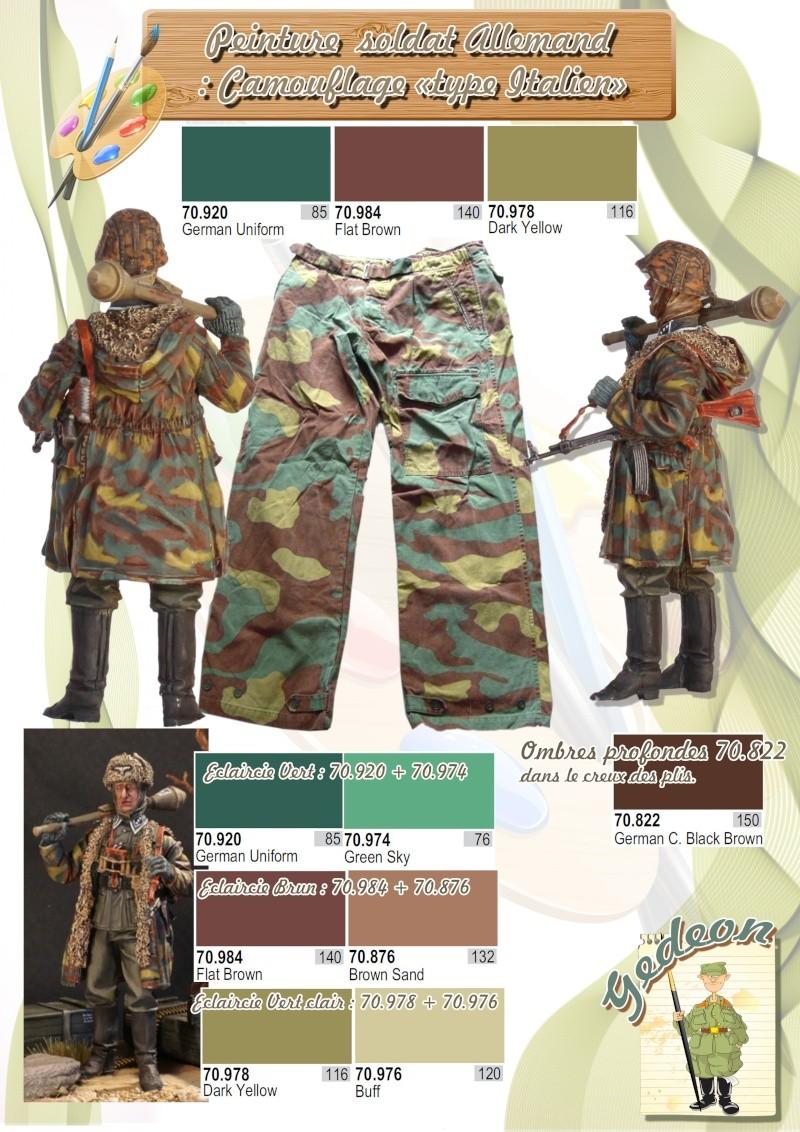 Couleurs pour la peinture des uniformes Allemand avec camouflage type Italien WWII Page_810