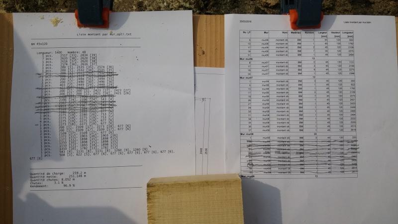 Construction d'un atelier en ossature bois ! - Le Bardage ! 20160312